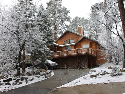 New Log Style Cabin Moonridge, 3bd, 3ba, Sleeps 10, Walk To Slopes, Ntl. Forest