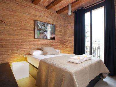 Photo for Apartment 410 m from the center of Barcelona with Internet, Air conditioning, Lift, Terrace (443091)