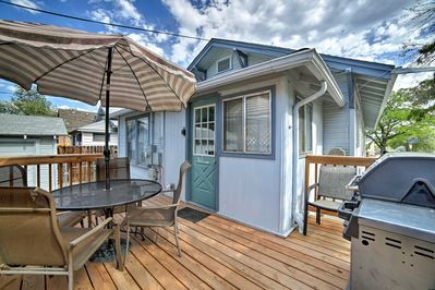 During your stay, relax and cook out on the private back porch.