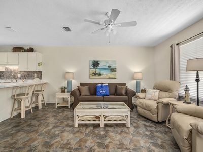 Photo for Walk To The Beach! Sleeps 5! First Floor Unit! No Stairs! Community Pool!