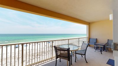 Photo for Gulf-front 4-bedroom condo, steps to dining and entertainment