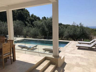 "Photo for Sea View Villa with Pool in Protected Landscape ""Kamenjak"""