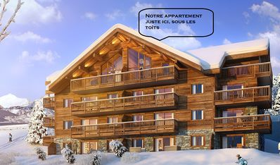 Photo for New apartment - 8 people - Stunning view - Ski to the feet - Wood interior