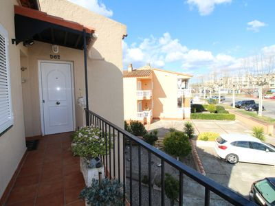 Photo for Empuriabrava apartment 200m from the beach with seating for four people