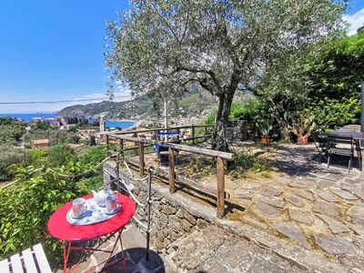 Photo for il Frantoio del Mesco, Levanto - Apartment for 7 people, with garden and sea-view 011017LT0635