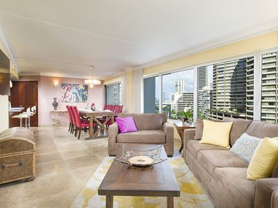 Photo for Beautifully Remodeled 2 Bedroom Waikiki Condo - Sleeps 6!