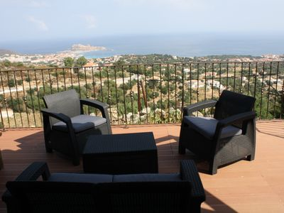 Photo for Villa WITH EXCEPTIONAL VIEW ON THE SHORES AND THE PORT OF RUSSIAN ISLAND