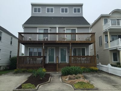 Photo for OCEANBLOCK, 3 story townhome,3 bedrooms,4 baths,3 decks