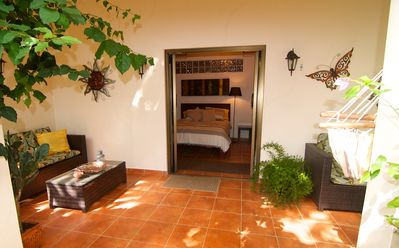 Entrance to the Terrace Bedroom at The Hacienda BNB