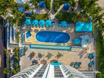 Photo for Direct Beach Access. Spacious Ocean View 1BR Suite. Pool, Sauna