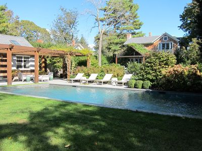 Photo for Sag Harbor Luxury Home With Fabulous Pool, Gardens, Walk To Village