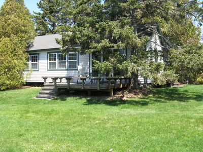 View of Pinelodge Cottage - 800 square feet of comfort.
