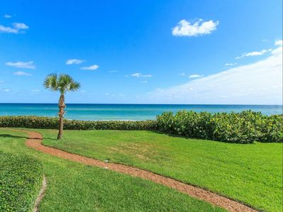 Taking the path from our screened porch you are just steps to the beach.l