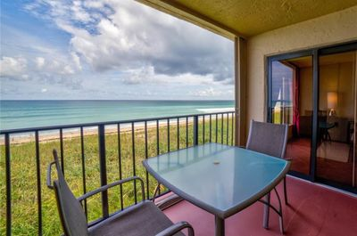 Balcony, direct oceanfront,  just like sitting on the beach