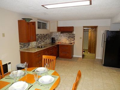 Photo for Basement Suite 20 minutes to the airport