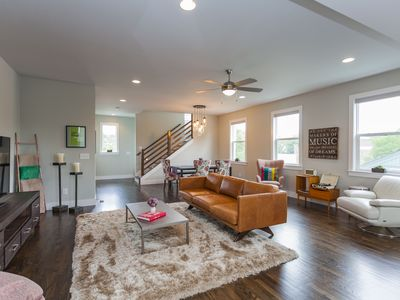 Photo for 3 BR/3.5 B Urban Eclectic in East Nashville w/ Roofdeck and 5PM  Checkout