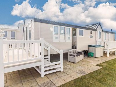 Photo for Luxury Seaview caravan for hire at Hopton with a full seaview ref 80010