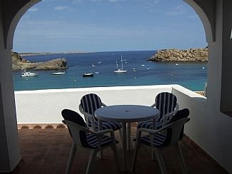 Photo for Apartment in Arenal d'en Castell with Fabulous views over sea and bay.
