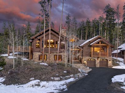 Photo for Luxurious Lodge with Views and Hot Tub - Located a short walk to Main Street
