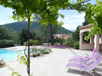 Photo for Villa with private pool and panoramic views of the mountains and the village