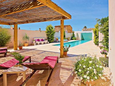 Photo for 3 bedroom Villa, sleeps 6 in Sant Joan with Pool, Air Con and WiFi