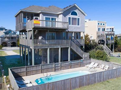 Photo for Enticing Views! Oceanfront, Waves w/ Pool, Hot Tub, Game Room, Dog-Friendly