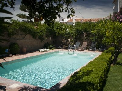 Photo for Village house with pool and walled gardens in picturesque valley near Granada