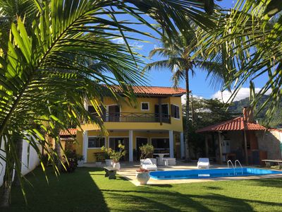 Photo for Beautiful Beach House in the Sand - Ocean Front - Beach of Maresias with swimming pool.