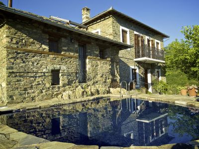 Photo for PELION HOMES | Villa Koukourava, a beautiful old stone pool house