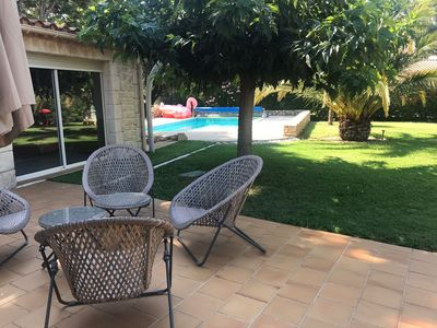 Photo for 2 'from Uzès - Charming house with swimming pool in mature garden