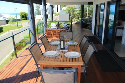 Private deck and ocean views..