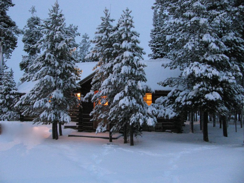 Log Cabin In Trees West Yellowstone West Yellowstone