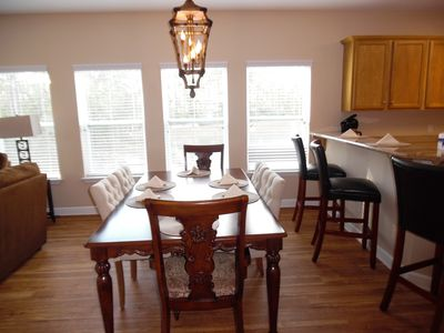 dining room-All units are furnished similarly-Typical 3 BR