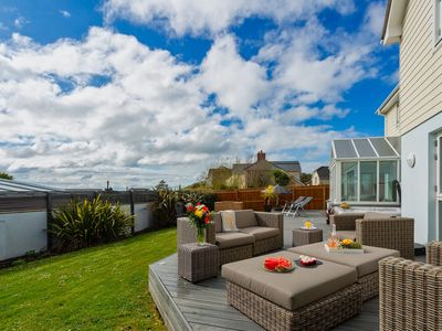Photo for CROYDE BAYWATCH: 5* home, 5 bedrooms, kids TV room, hot tub, short walk to beach