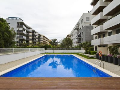 Photo for SINIA with communal pool, beach at 400m