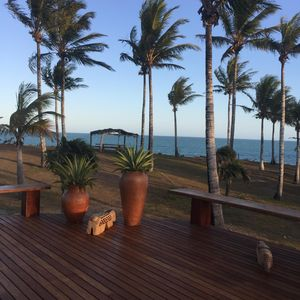 Photo for Beachfront villa with 5 independent chalets in the most reserved area of Corumbau.