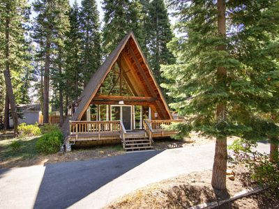 Photo for Charming A-Frame cabin with on scenic lot, five minutes from Lake Tahoe