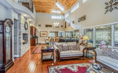 Living Room - Welcome to Sevierville! Your rental is professionally managed by TurnKey Vacation Rentals.