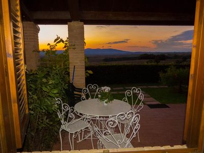 Photo for Apartment in terraced house, 2 persons, with terrace and panoramic view