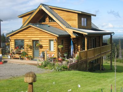 "Photo for Have an Authentic Log Cabin Alaskan 5 Star experience at ""The Eagles Nest"""