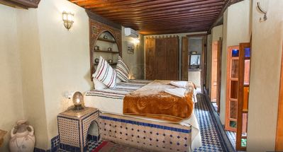 Photo for King Size Bed, Riad Layalina Fes: Pool, 360° View & Free Secure Parking at Foot