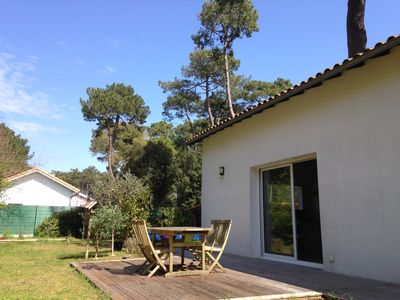 Photo for Saint Palais beach house on foot the Grande Côte, in the heart of the pines, 5 people