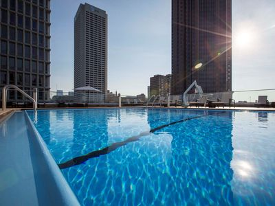 Photo for Midtown Suite | Free Breakfast, Pool, Gym, Business Center