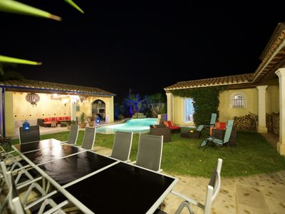 Photo for Villa 6 bedrooms, swimming pool, beach 5 minutes