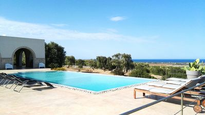 Photo for Villa with private pool overlooking the sea in Salento