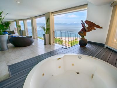 Photo for ROMANTIC & MODERN PENT HOUSE STYLE W PRIVATE JACUZZI ON TERRACE