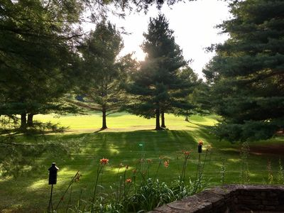 View from the patio, 13th fairway