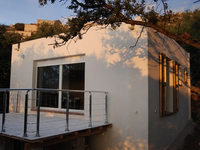 Photo for Mini-villa independent sea view in LUMIO 5 minutes from the beach.