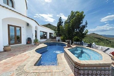 Photo for Luxury 4 bed villa with pool, sea views, available 30 June - 1 Sept.