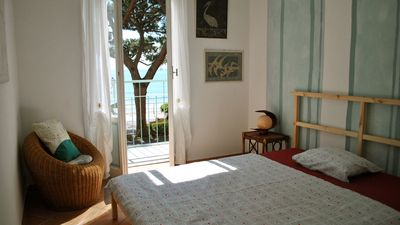 Photo for 20 metres from the sand beach of Alassio, 2 balconies directly on the seaside.